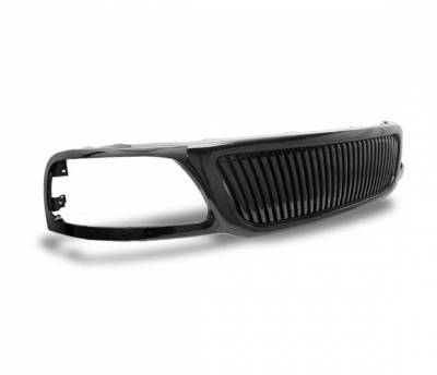 Grilles - Custom Fit Grilles - 4CarOption - Ford Expedition 4CarOption Front Hood Grille - GRZV-F1509903-BK