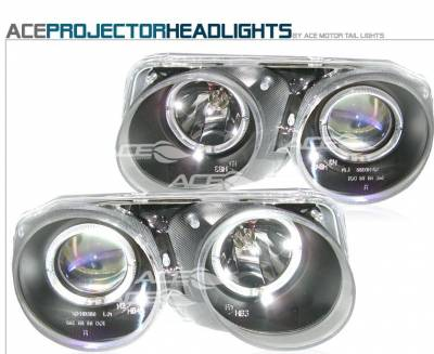 Headlights & Tail Lights - Headlights - Custom - JDM Black Clear Headlights