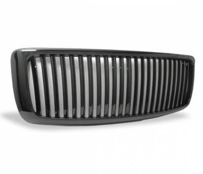 Grilles - Custom Fit Grilles - 4CarOption - Dodge Ram 4CarOption Front Hood Grille - GRZV-RAM0206-BK