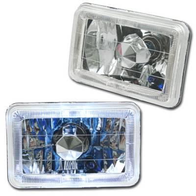 Headlights & Tail Lights - Headlights - Custom - Euro Diamond Cut Headlights