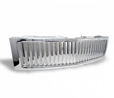 Grilles - Custom Fit Grilles - 4CarOption - Chevrolet Silverado 4CarOption Front Hood Grille - GRZV-SLV0708-CM