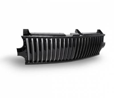 Grilles - Custom Fit Grilles - 4CarOption - Chevrolet Silverado 4CarOption Front Hood Grille - GRZV-SLV9902-BK