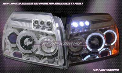 Headlights & Tail Lights - Headlights - Custom - JDM Chrome Halo LED Headlights