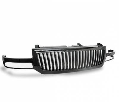 Grilles - Custom Fit Grilles - 4CarOption - GMC Sierra 4CarOption Front Hood Grille - GRZV-SRA0306-BK