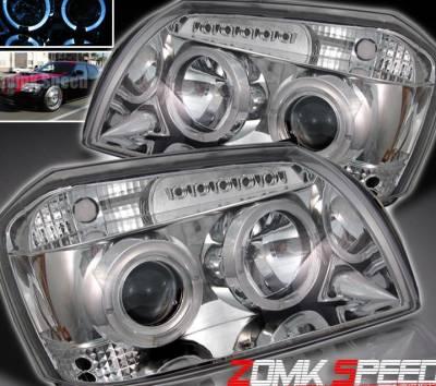 Headlights & Tail Lights - Headlights - Custom - Chrome Halo LED Pro Headlights