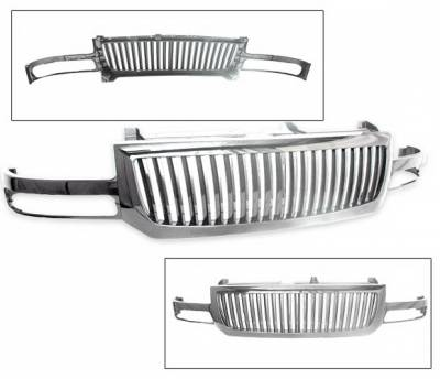 Grilles - Custom Fit Grilles - 4CarOption - GMC Sierra 4CarOption Front Hood Grille - GRZV-SRA0306-CM