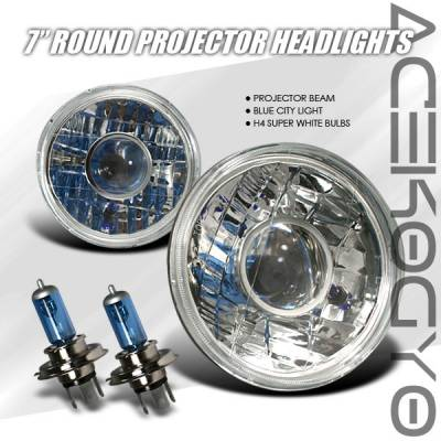 Headlights & Tail Lights - Headlights - Custom - Round Pro Headlights