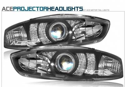 Headlights & Tail Lights - Headlights - Custom - Black Angel Eyes Pro Headlights