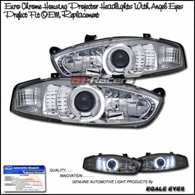 Headlights & Tail Lights - Headlights - Custom - Chrome Angel Eyes Pro Headlights