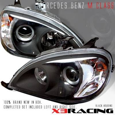 Headlights & Tail Lights - Headlights - Custom - Black Pro Headlights