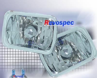 Headlights & Tail Lights - Headlights - Custom - Square Diamond Cut Headlights