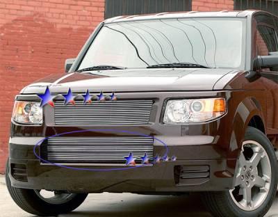 Grilles - Custom Fit Grilles - APS - Honda Element APS Billet Grille - Bumper - Aluminum - H66503A