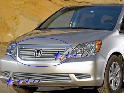Grilles - Custom Fit Grilles - APS - Honda Odyssey APS Billet Grille - Upper - Aluminum - H66561A