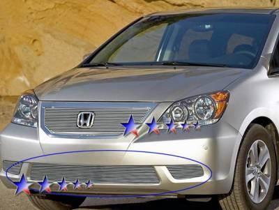 Grilles - Custom Fit Grilles - APS - Honda Odyssey APS Billet Grille - Bumper - Aluminum - H66562A