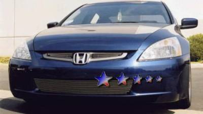 Grilles - Custom Fit Grilles - APS - Honda Accord 4DR APS Billet Grille - Upper - Aluminum - H67103A