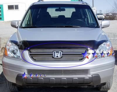 Grilles - Custom Fit Grilles - APS - Honda Pilot APS Billet Grille - Upper - Aluminum - H67105A