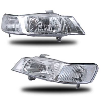 Headlights & Tail Lights - Headlights - Custom - Chrome Crystal Headlights