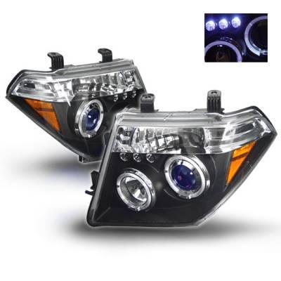 Headlights & Tail Lights - Headlights - Custom - Black LED Halo Pro Headlights