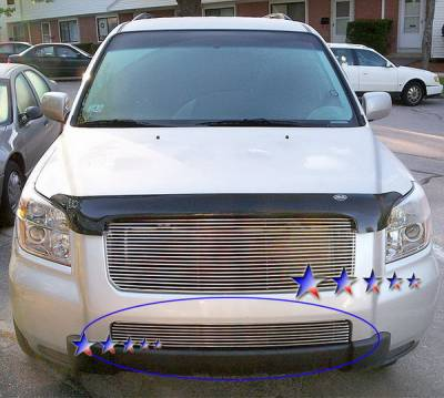 Grilles - Custom Fit Grilles - APS - Honda Pilot APS Billet Grille - Bumper - Aluminum - H67130A