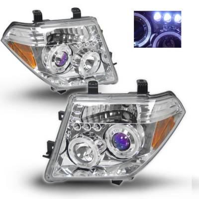 Headlights & Tail Lights - Headlights - Custom - Chrome LED Halo Pro Headlights