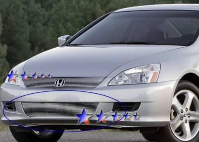 Grilles - Custom Fit Grilles - APS - Honda Accord 2DR APS Billet Grille - Bumper - Aluminum - H67134A