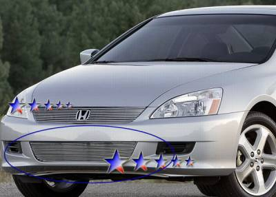 Grilles - Custom Fit Grilles - APS - Honda Accord 2DR APS Billet Grille - Bumper - Stainless Steel - H67134S