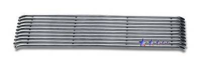 Grilles - Custom Fit Grilles - APS - Honda Ridgeline APS Tubular Grille - Upper - Stainless Steel - H687114