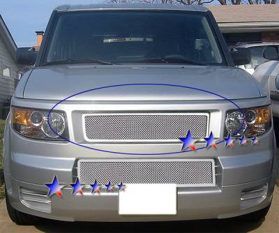 Grilles - Custom Fit Grilles - APS - Honda Element APS Wire Mesh Grille - Bumper - Stainless Steel - H76503T