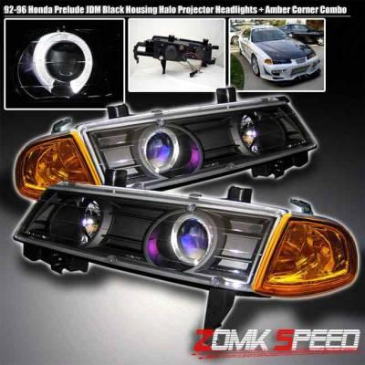 Headlights & Tail Lights - Headlights - Custom - JDM Black Housing Halo Pro Headlights
