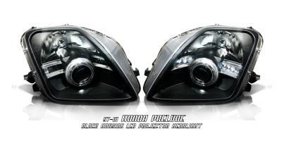 Headlights & Tail Lights - Headlights - Custom - JDM Black LED Halo Pro Headlights