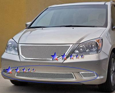 Grilles - Custom Fit Grilles - APS - Honda Odyssey APS Wire Mesh Grille - Bumper - Stainless Steel - H76562T