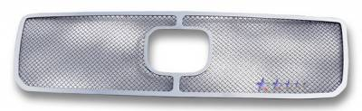 Grilles - Custom Fit Grilles - APS - Honda Pilot APS Wire Mesh Grille - with Logo Opening - Upper - Stainless Steel - H77113T