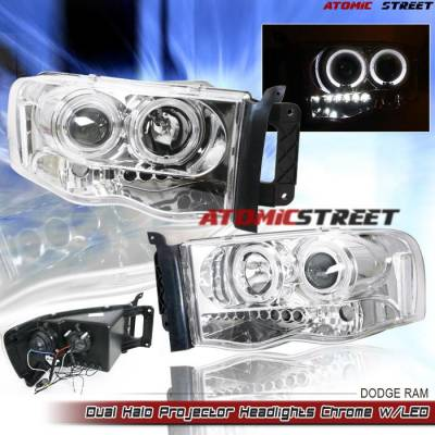 Headlights & Tail Lights - Headlights - Custom - Chrome Clear Halo LED Pro Headlights