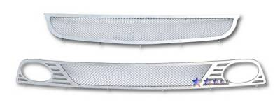 Grilles - Custom Fit Grilles - APS - Honda Civic 4DR APS Wire Mesh Grille - Bumper - Stainless Steel - H77124T