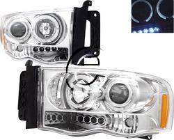 Headlights & Tail Lights - Headlights - Custom - Chrome Dual Halo LED Pro Headlights