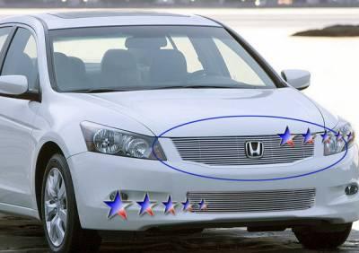 Grilles - Custom Fit Grilles - APS - Honda Accord 2DR APS Billet Grille - Upper - Aluminum - H86568A