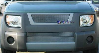 Grilles - Custom Fit Grilles - APS - Honda Element APS Billet Grille - with Logo Opening - Upper - Aluminum - H87101A