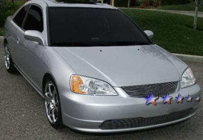 Grilles - Custom Fit Grilles - APS - Honda Civic 2DR APS Billet Grille - Upper - Aluminum - H87107A