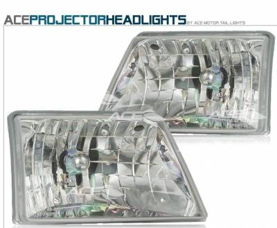 Headlights & Tail Lights - Headlights - Custom - Diamond Crystal Headlights