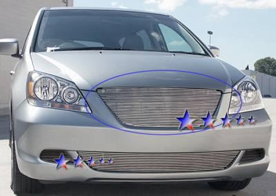Grilles - Custom Fit Grilles - APS - Honda Odyssey APS Billet Grille - Upper - Aluminum - H87119A