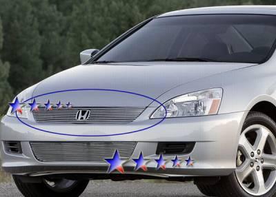 Grilles - Custom Fit Grilles - APS - Honda Accord 2DR APS Billet Grille - Upper - Aluminum - H87133A