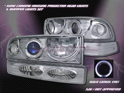 Headlights & Tail Lights - Headlights - Custom - Chrome Halo Headlights