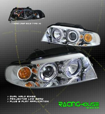 Headlights & Tail Lights - Headlights - Custom - Chrome Dual Halo Pro Headlights