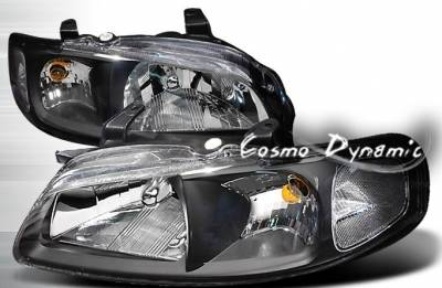 Headlights & Tail Lights - Headlights - Custom - JDM Black Headlights