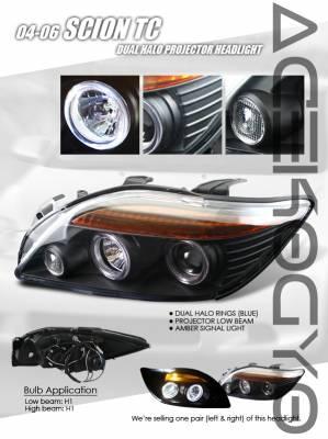 Headlights & Tail Lights - Headlights - Custom - JDM Black Halo Pro Headlights