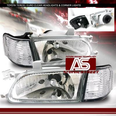 Headlights & Tail Lights - Headlights - Custom - Euro Crystal Clear Headlights