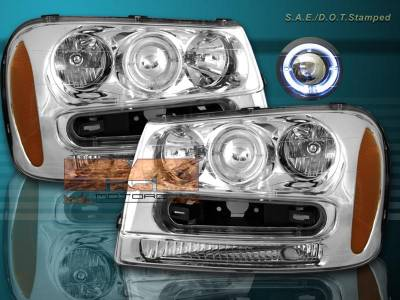 Headlights & Tail Lights - Headlights - Custom - Euro Chrome  Headlights