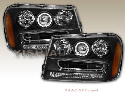 Headlights & Tail Lights - Headlights - Custom - JDM Black Halo  Headlights