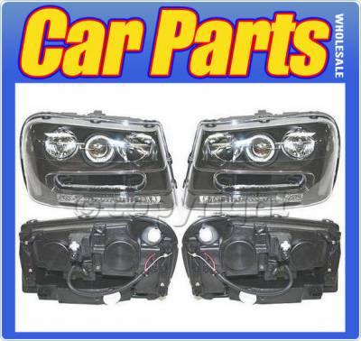 Headlights & Tail Lights - Headlights - Custom - Euro Black Clear Headlights