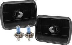 Headlights & Tail Lights - Headlights - Custom - Black Sealed Beam Headlights